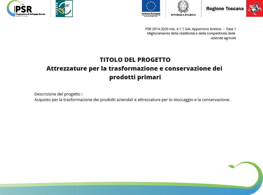 Attrezzature per la trasformazione e conservazione dei prodotti primari